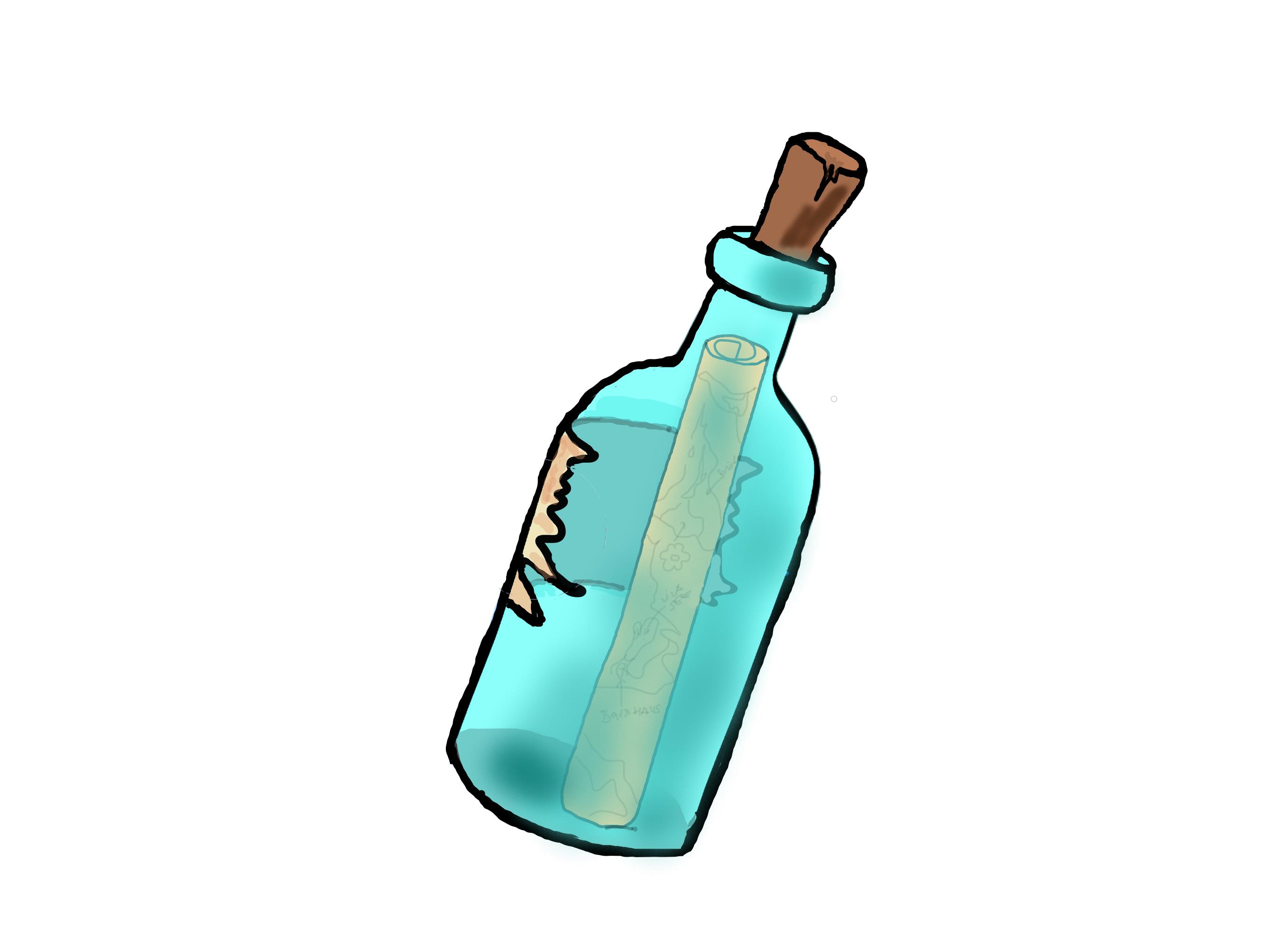 Wolkeninsel: Flaschenpost von Andrés